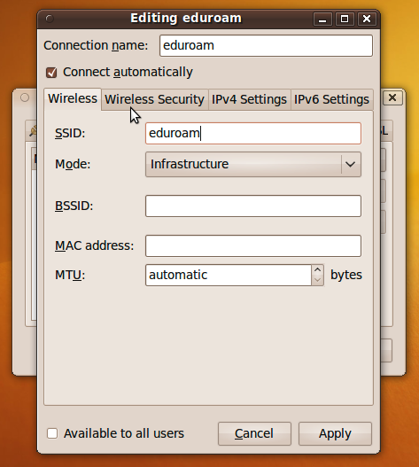 Generic SSID Configuration