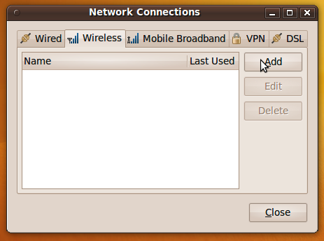 New Network Connection