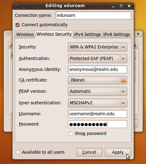 PEAP Configuration