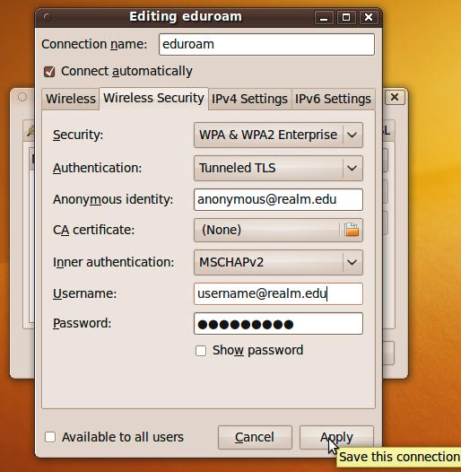 TTLS Configuration